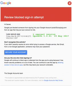 Gmail Blocks Outlook as Less Secure App
